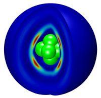 Sulfur hexafluoride in a 4-He droplet