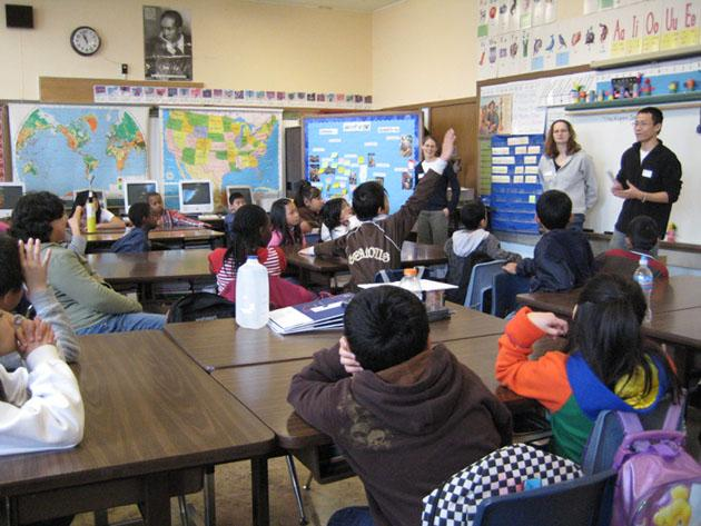 Elementary Classrooms Without Desks ~ Bergman group teaching outreach